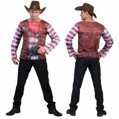 Cowboy t shirt voor heren