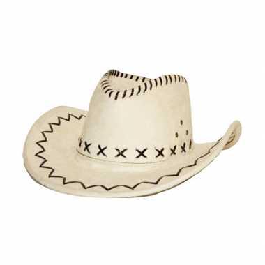 Cowboyhoed ecru suede look