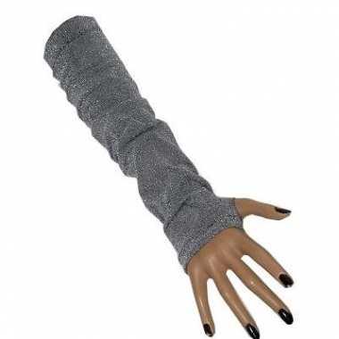 Dames handschoenen zilver