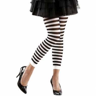 Dames legging wit met zwart