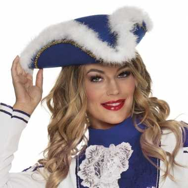 Dansmarietje blauwe hoed voor dames