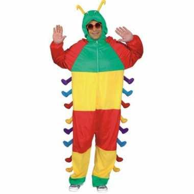 Dieren kostuum rups voor volwassenen