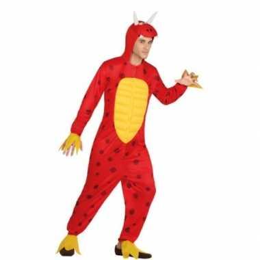 Dierenpak rode draak voor heren
