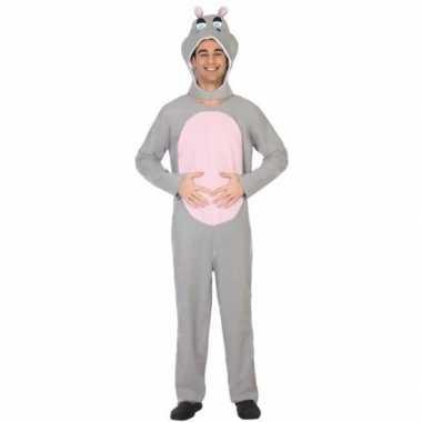 Dierenpak verkleed kostuum nijlpaard voor volwassenen
