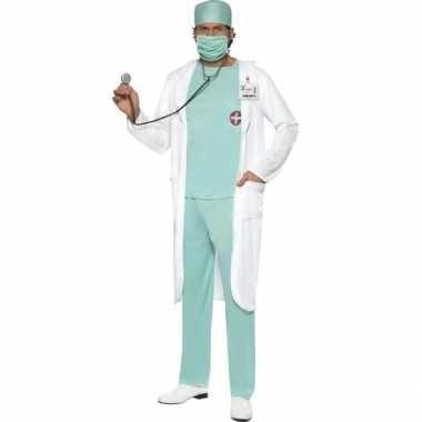 Dokter kostuum met jas voor heren