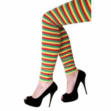 Dorus legging met gekleurde strepen