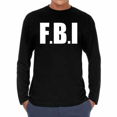 F.b.i. long sleeve t shirt zwart voor heren