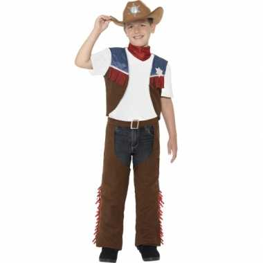 Feest cowboy verkleedoutfit voor jongens