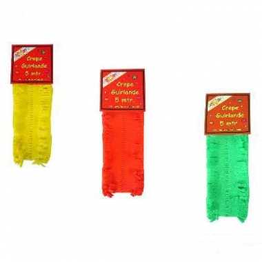 Feest slingers geel rood groen
