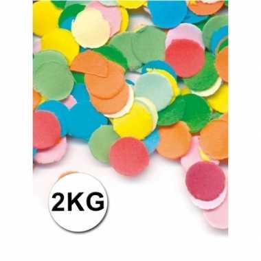 Feestartikelen luxe confetti 2 kilo multicolor