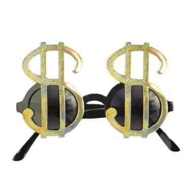 Feestbrillen dollar goud