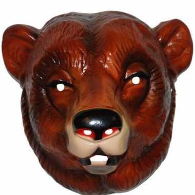 Feestmasker beer bruin voor volwassenen