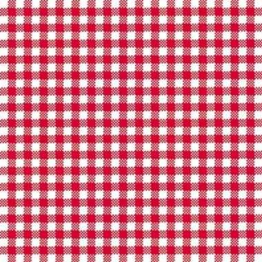Feestservetten geruit rood/wit 3 laags 40 stuks