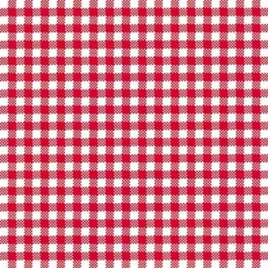 Feestservetten geruit rood/wit 3 laags 80 stuks