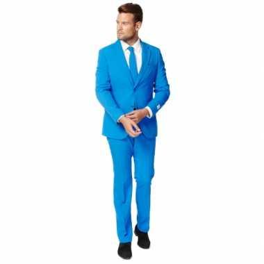 Fel blauw zaken kostuum voor heren