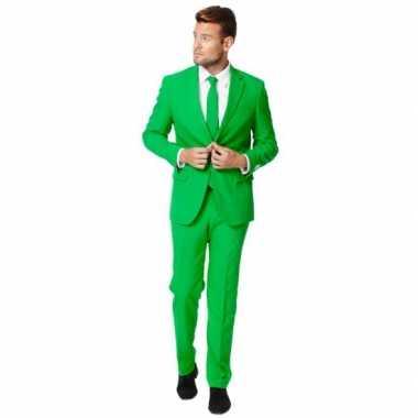 Fel groen kostuum pak voor heren