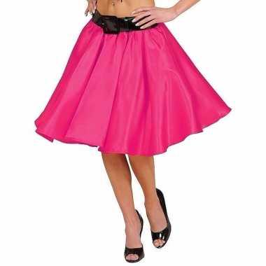 Fuchsia fifties rok met petticoat voor dames