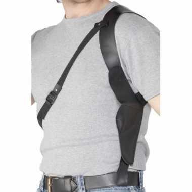 Gangster zwarte schouder holster