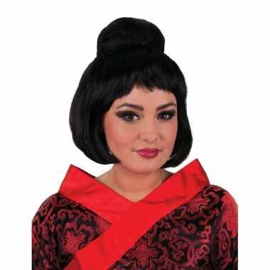 Geisha pruik met knot