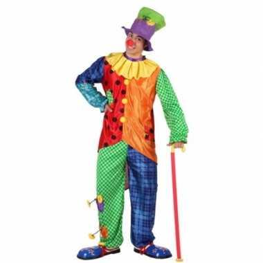 Gekleurd clowns kostuum voor mannen