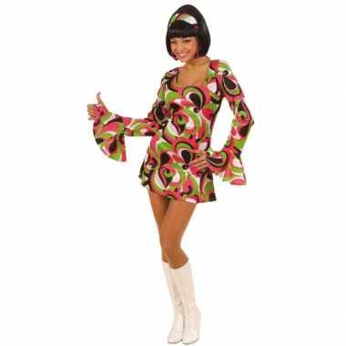 Gekleurd dames jurk jaren 60