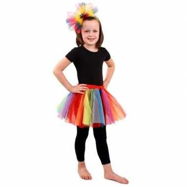Gekleurde regenboog petticoat voor meisjes