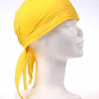 Gele bandana van luxe kwaliteit
