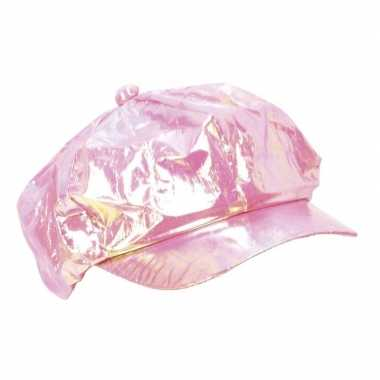 Glanzende disco pet roze