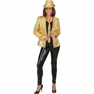 Goud disco vestje met pailletten voor dames