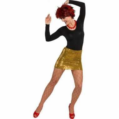 Gouden feestkleding dames rokje