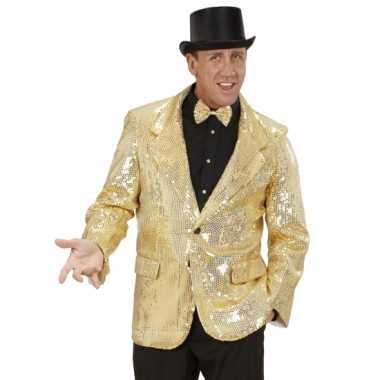 Gouden glitter blazer