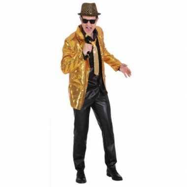 Gouden heren jas met pailletten
