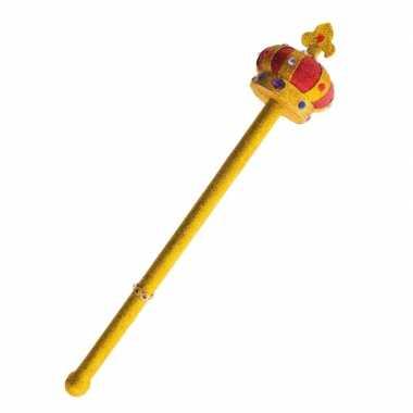 Gouden scepter met kroon