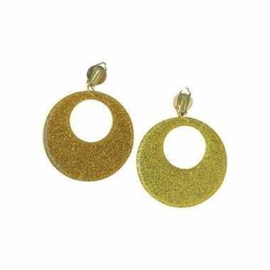 Gouden sixties oorbellen clip on