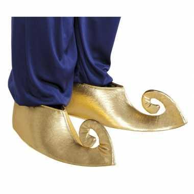 Gouden sultan overschoenen voor volwassenen