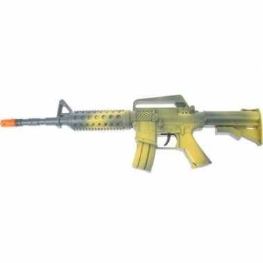 Groen automatisch speelgoed geweer 46 cm voor jongens