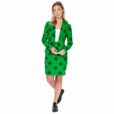 Groen dames kostuum st. patricks day