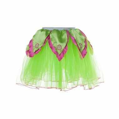 Groen met roze fee verkleed tutu voor meiden
