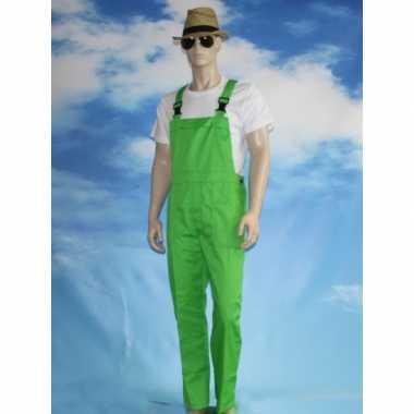 Groene tuinbroek overall voor volwassenen