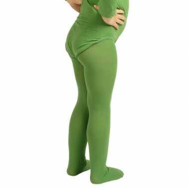 Groene verkleed panty/maillot voor meisjes/kinderen