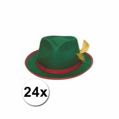 Groepsverpakking groene tiroler hoedjes 24x