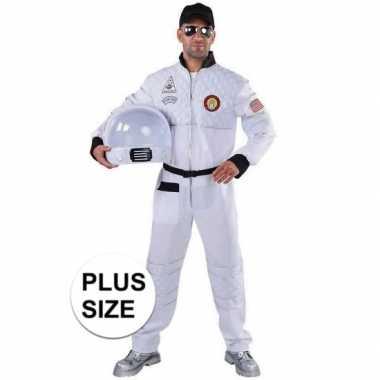 Grote maat astronaut verkleed kostuum voor heren
