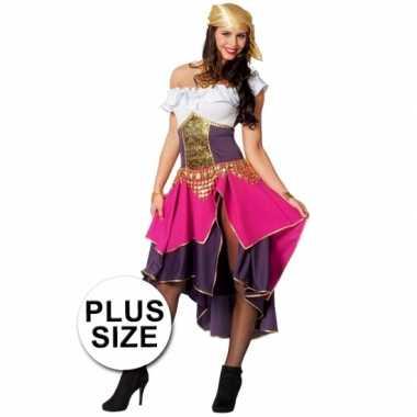 Grote maat feest zigeunerin verkleedoutfit voor dames