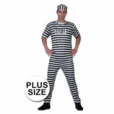 Grote maat gevangenen kostuum