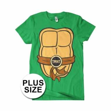 Grote maat heren ninja turtles verkleedkleding