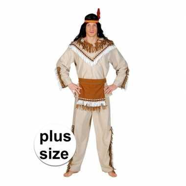 Grote maat indiaan adahy verkleed kostuum voor heren