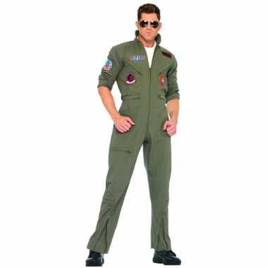 Grote maat piloten overallen in armygreen