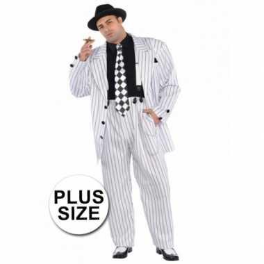 Grote maten gangster kostuum voor heren