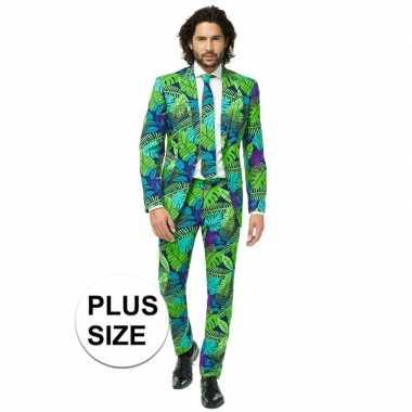Grote maten heren verkleed pak/kostuum jungle print