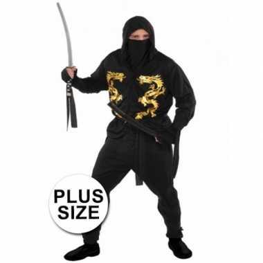Grote maten ninja kostuum voor heren